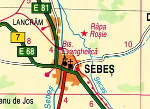 Harta orasului Sebes